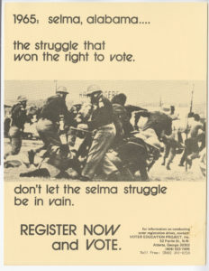 Selma Poster, Voter Education Project (Southern Regional Council)circa 1960 Voter Education Project organizational records