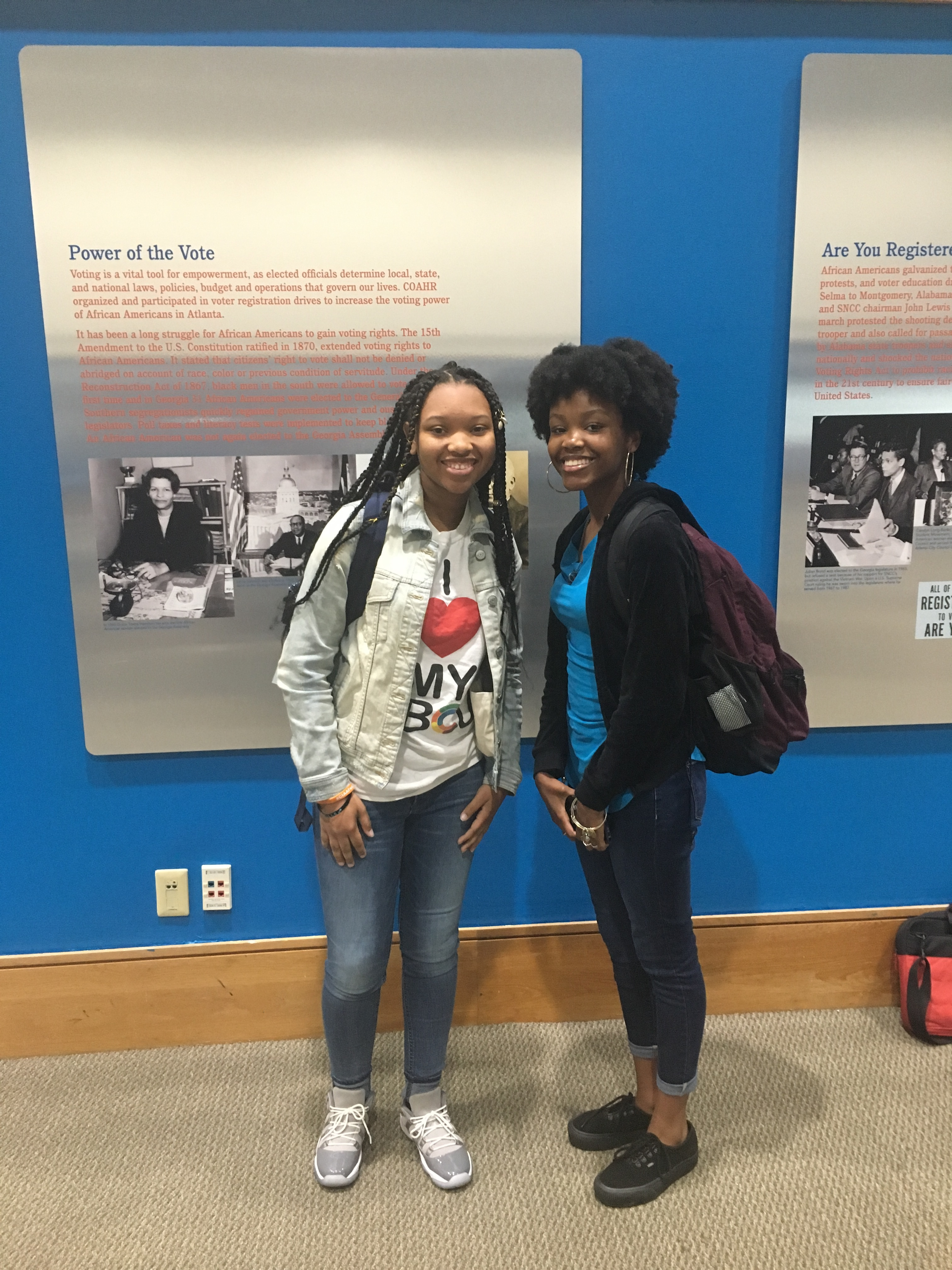 Camille and Keighla-AUC Student Activism Exihbit