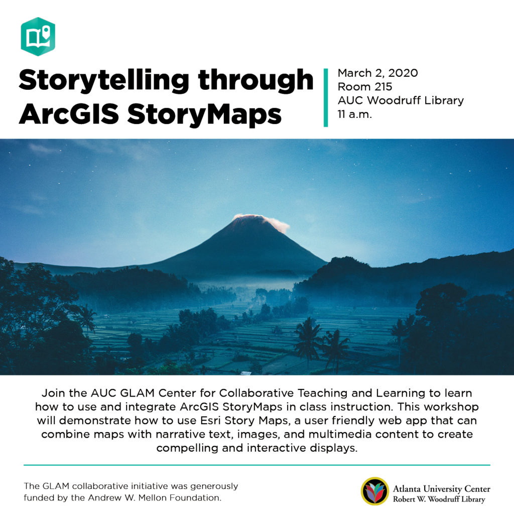 Storytelling through ArcGIS StoryMaps flyer