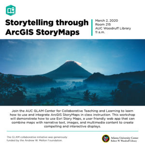 Storytelling through ArcGIS StoryMaps flyer
