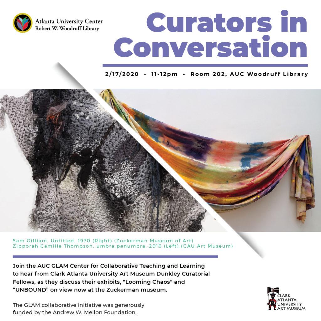 Curators in Conversation flyer