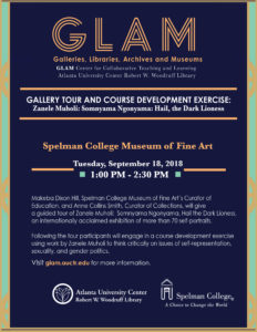 Gallery Tour and Course Development Exercise flyer