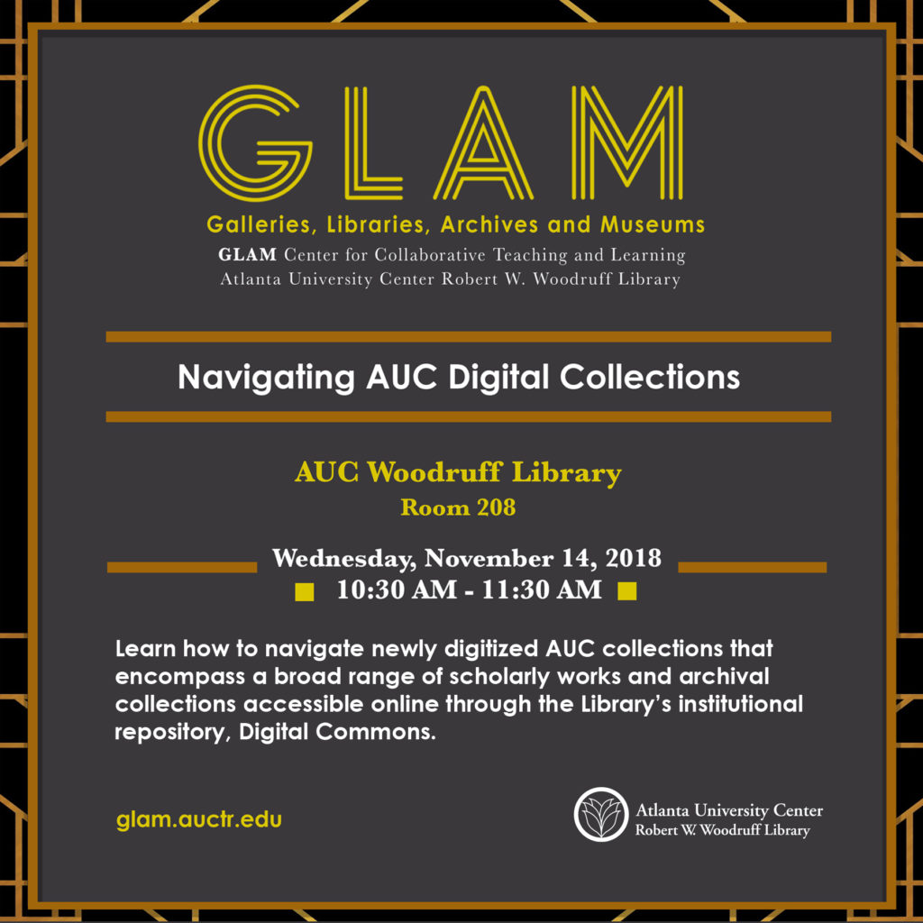 Navigating AUC Digital Collections flyer
