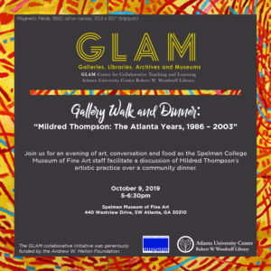 Gallery Walk and Dinner flyer
