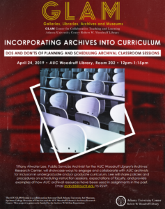 Incorporating Archives into Curriculum flyer