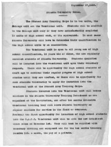 Atlanta University Notes, Atlanta University 1918 September 17 Edward Twitchell Ware Records, 1888-1929 - AU Presidential Records