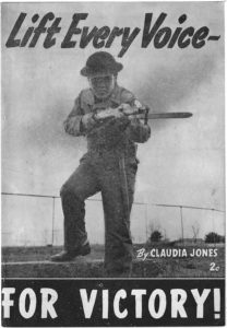 Lift Every Voice for Victory, Claudia Jones, 1942 JuneWorld War II vertical file