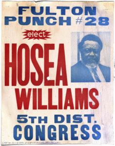 Elect Hosea Williams, circa 1984Political Posters Collection