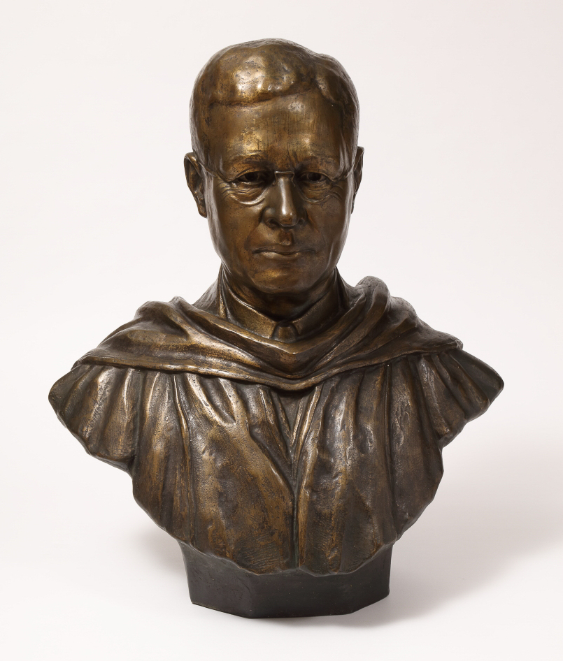 "John Hope Bust ""I Am a Part of All That I Have Met"" Steffan Thomas 1936 Robert W. Woodruff Library Permanent Art Collection"