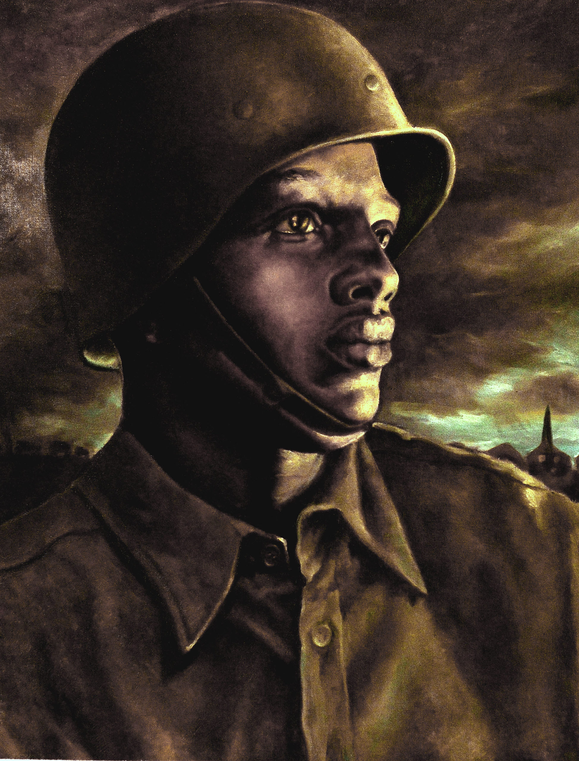 Spirit of the 366th, Bannarn, Henry Wilmer, 1943, Clark Atlanta University Art Museum