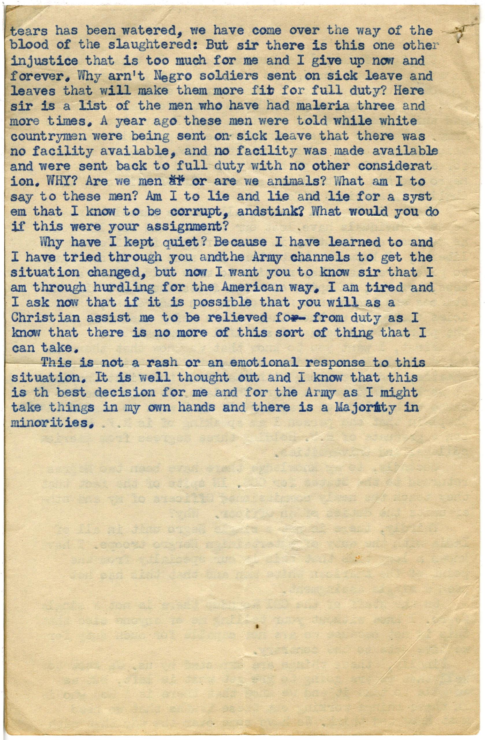 """""""Correspondence to Chaplain Nolan , Penn, Robert E., circa 1945-1946, Robert E. Penn collection"""""""