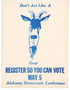 Don't Act Like a Goat, Voter Education Project (Southern Regional Council), circa 1970, Voter Education Project organizational records
