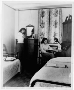 Women's Dormitory Interior, circa 1950 Atlanta University circa 1950 Atlanta University photographs