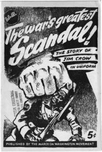 """The war's greatest scandal! The story of Jim Crow in uniform"", Dwight Macdonald, 1943, World War II vertical file"