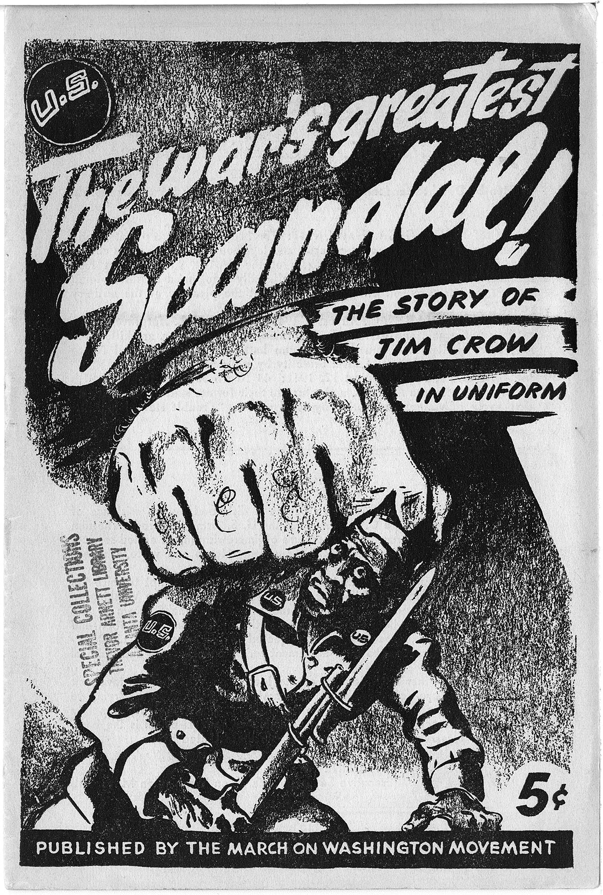 """The war's greatest scandal! The story of Jim Crow in uniform"", Dwight Macdonald, 1943, World War II vertical file"