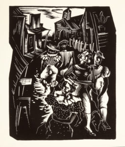Sunday Promenade, Hale Aspacio Woodruff, 1931-1946 (printed by Bob Blackburn, 1996)