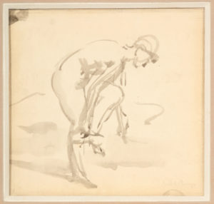 Study for Undressing, Isabel Bishop, Unavailable