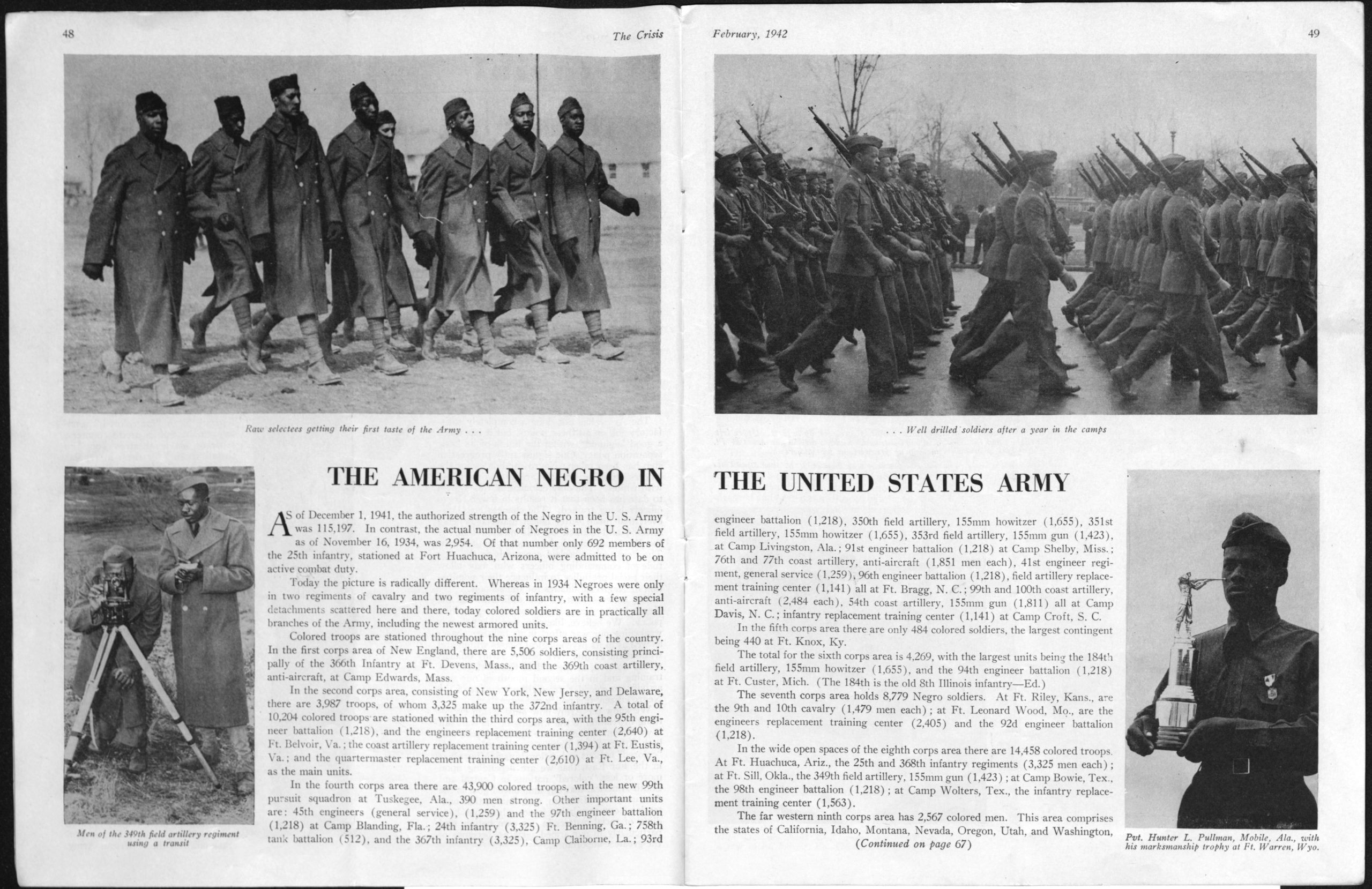 """The Crisis"", 1942, National Association for the Advancement of Colored People, 1942 February, World War II vertical file"