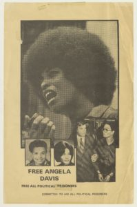 Free Angela Davis Poster, undated, David Taylor Papers