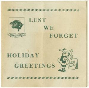 Greeting Card, Trezzvant W. Anderson, 1962, Trezzvant W. Anderson papers