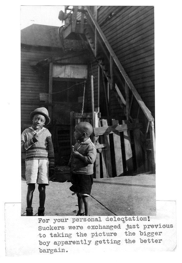Two boys of the neighborhood Neighborhood Union undated Neighborhood Union Collection