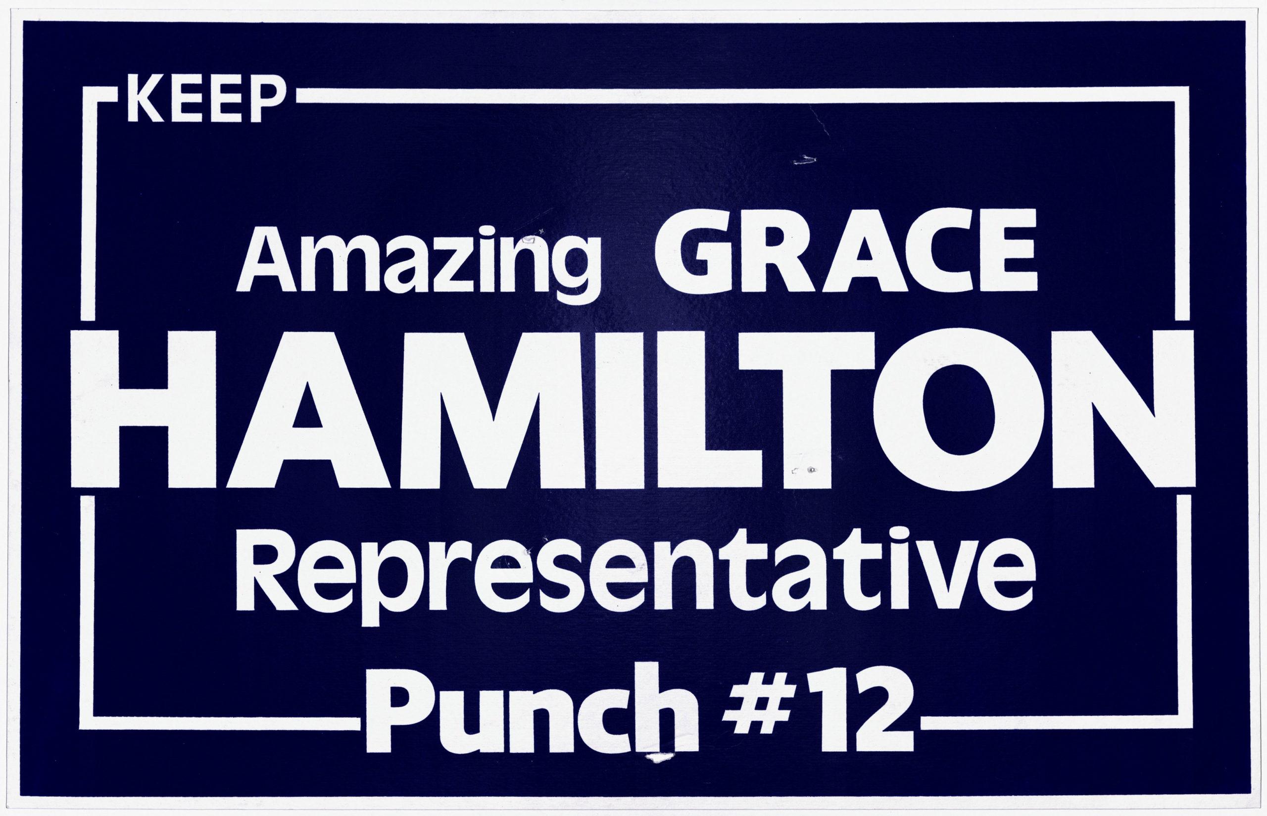 Amazing Grace Hamilton, circa 1984Political Posters Collection