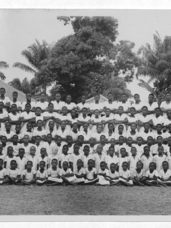 Photograph of students from Africa College in Nigeria, 1949, Rufus E. Clement records