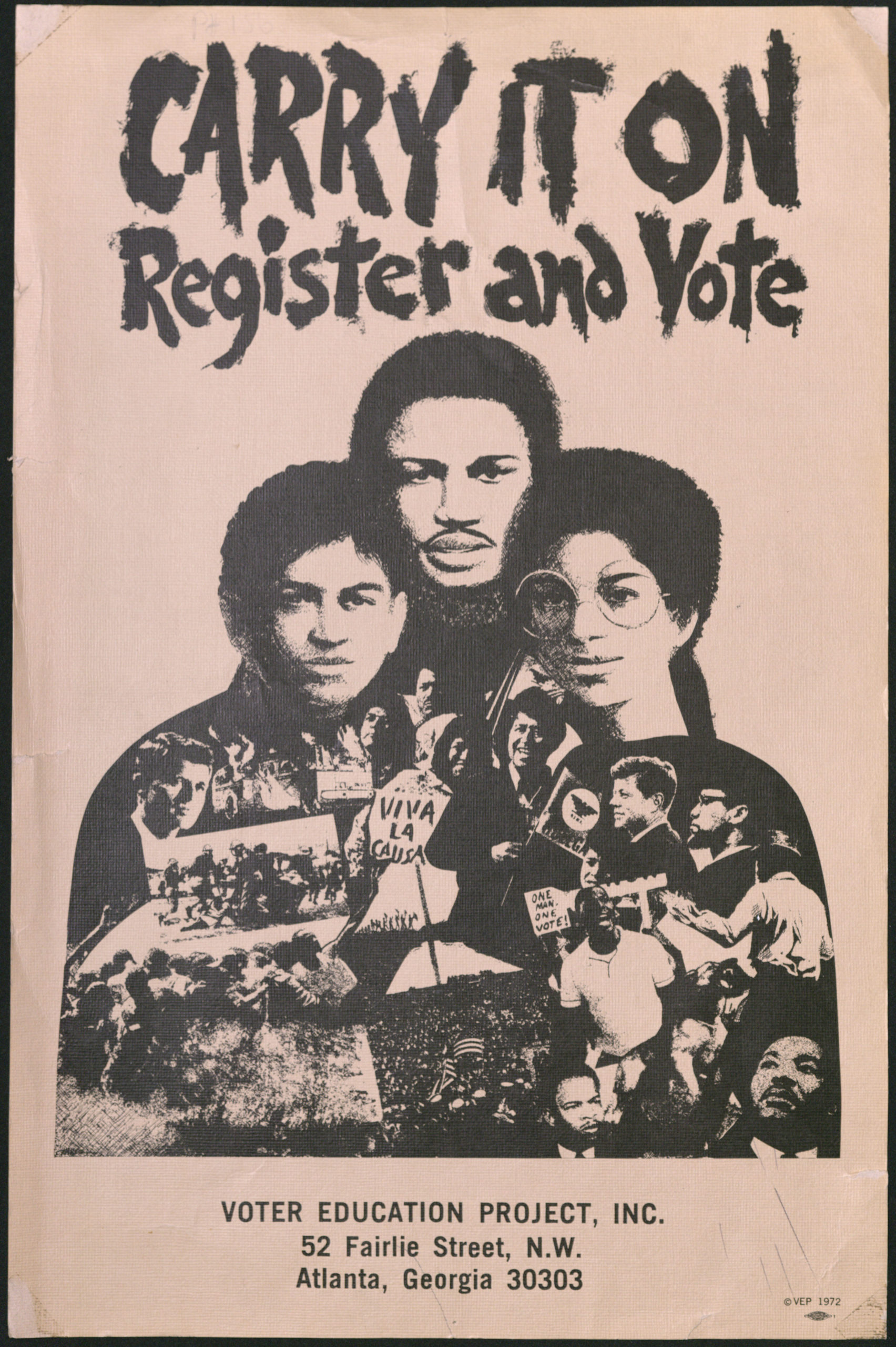 Carry It On - Register and Vote, circa 1972Political Posters Collection