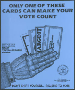 Only One of These Cards Can Make Your Vote Count, circa 1980Political Posters Collection