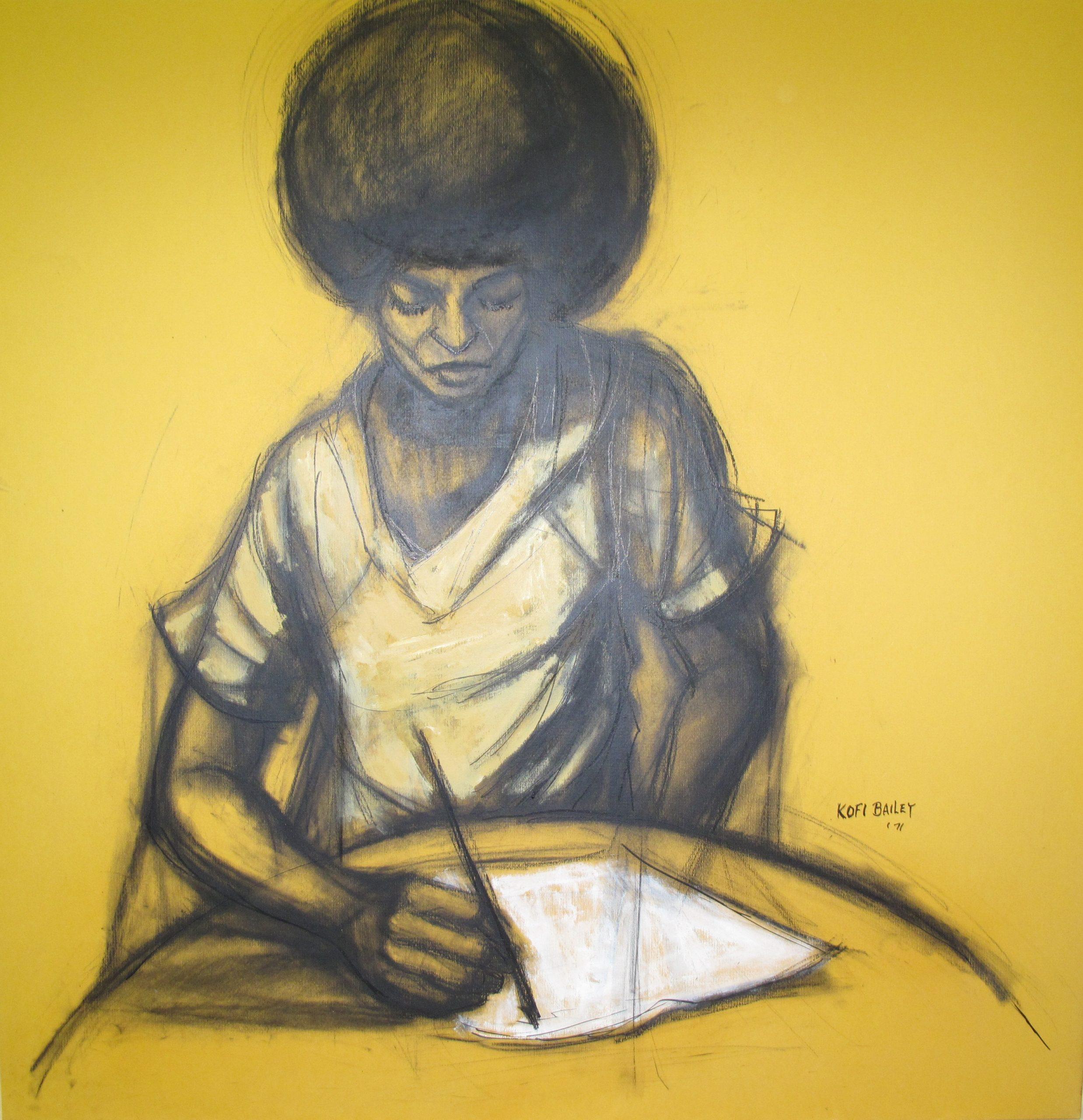 "Angela: Contemplating, Bailey, Herman ""Kofi"", 1971, Spelman College Museum of Fine Art"