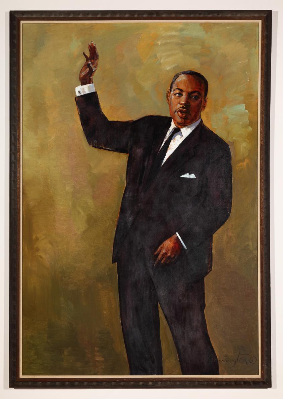 Portrait of Martin Luther King, Jr., Watson,  Barrington, ,
