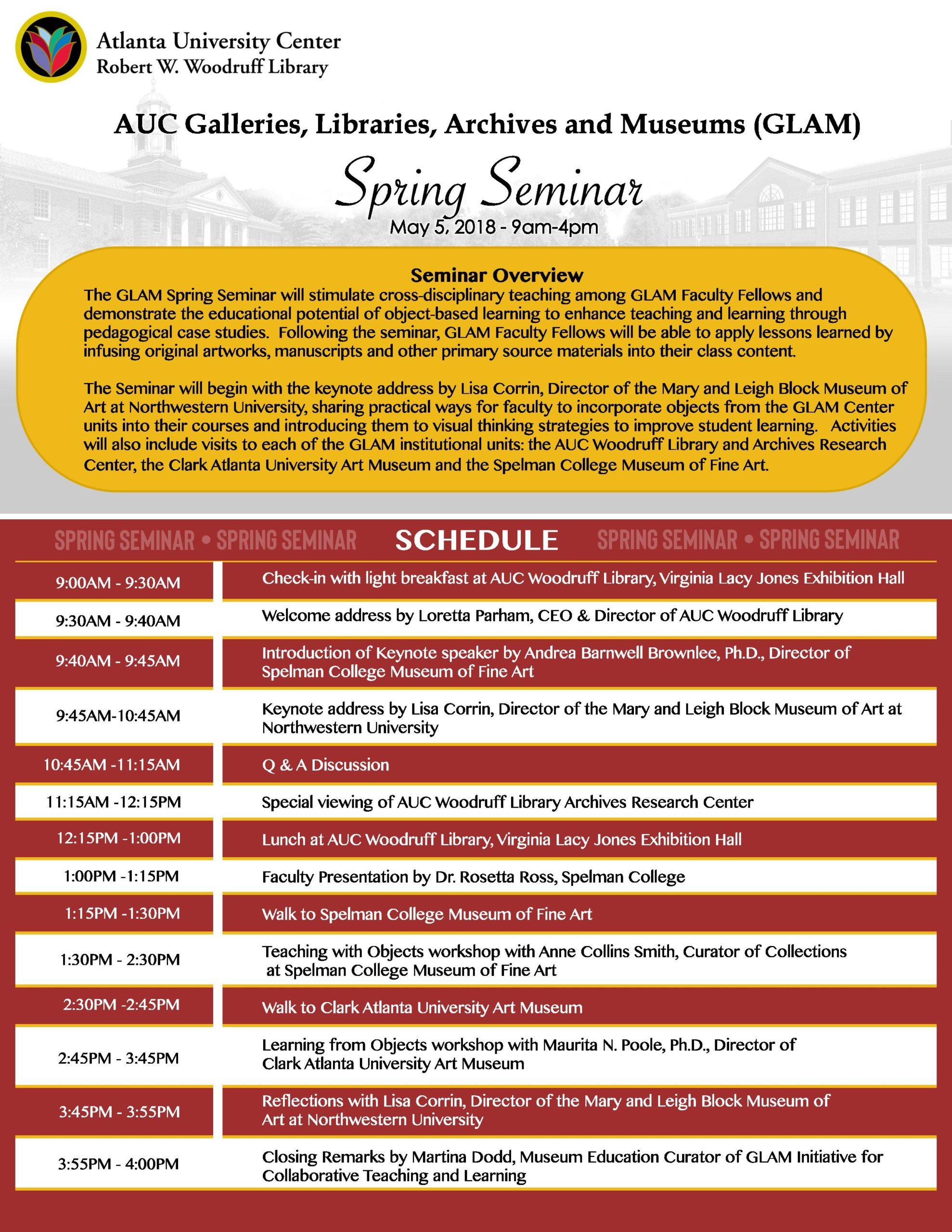 Spring Seminar 2018 flyer