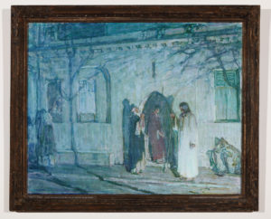 Christ and the Disciples before the Last Supper, Tanner,  Henry Ossawa, 1908-1909, Waddell