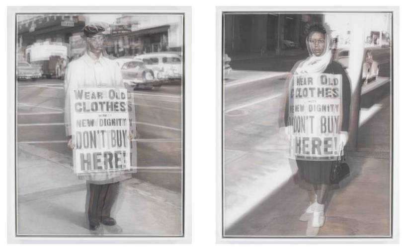 Man and Woman with Dignity from the Whitewash series,McCallum, Bradley; Tarry, Jacqueline,2006-2009,Spelman College Museum of Fine Art
