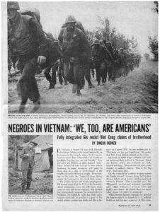 """Negros in Vietnam: We, Too, Are Americans"", George Alexander Sewell; Simeon Booker, 1965 November, George A. Sewell papers"