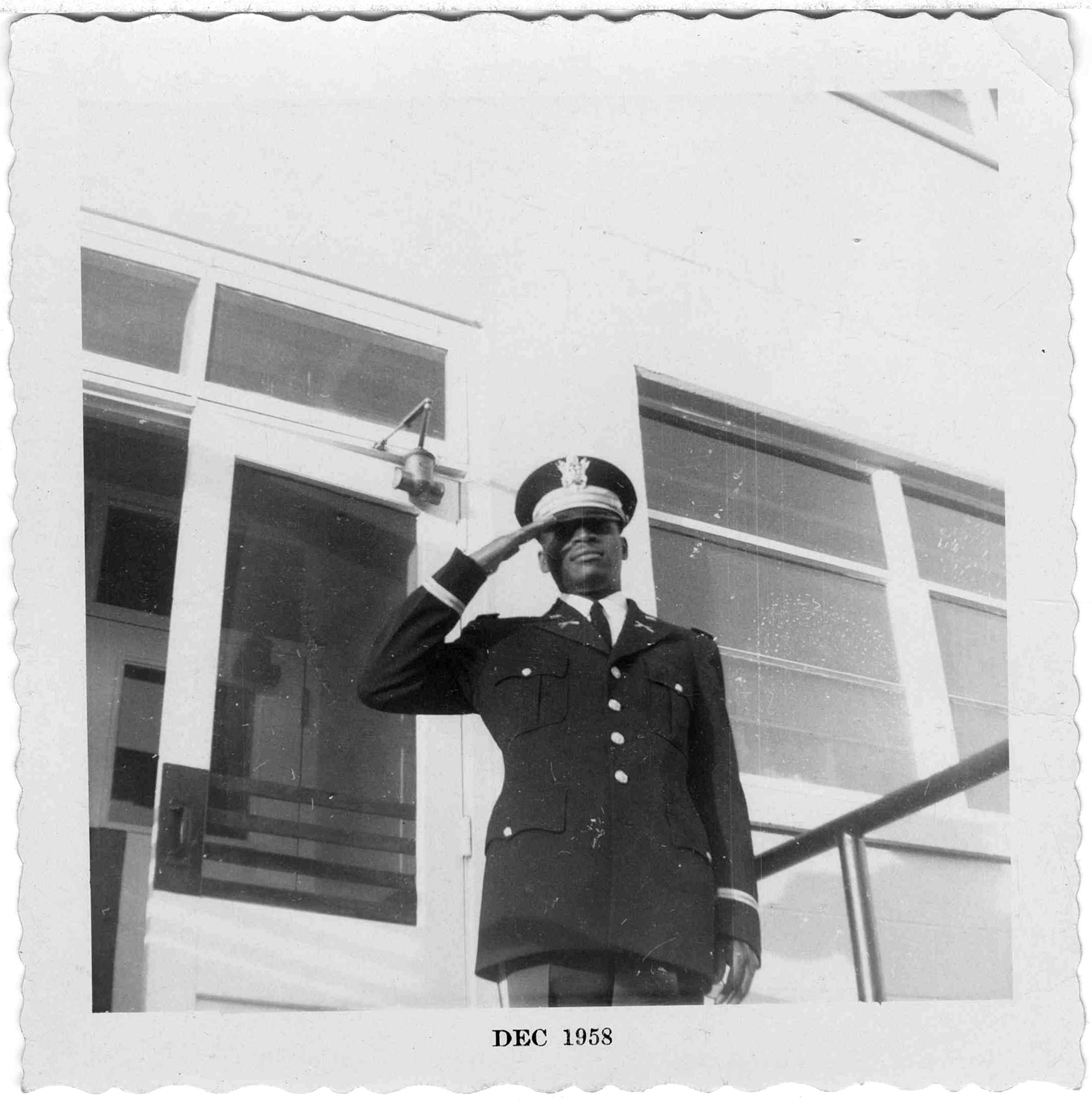 Military Serviceman, Hugh M. Gloster, 1958 December, Hugh M. Gloster photograph collection