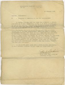 Letter of Commendation to Trezzvant W. Anderson, US Army War Correspondent, from Major Ivan H. Harrison, Trezzvant W. Anderson, 1946 February 28, Trezzvant W. Anderson papers