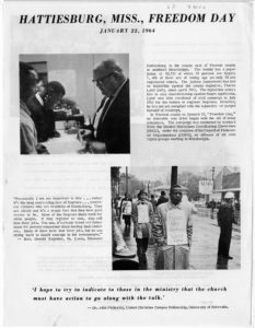 Hattiesburg Freedom Day handout,,1964 January 22,SNCC Vertical File