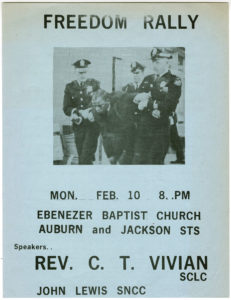Freedom Rally flyer/SNCC press release,Student Nonviolent Coordinating Committee (U.S.),circa 1964,SNCC Vertical File