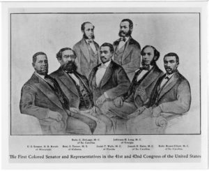 The First Colored Senator and Representatives in the 41st and 42nd Congress of the United States,,undated,Rucker, Aiken, Mollison, Harper Family papers