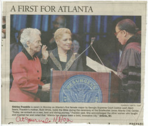 A First for Atlanta, Atlanta Journal-Constitution2002 January 8Johnson Publishing Company Clippings File Collection