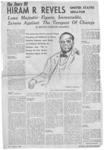The Story Of Hiram R. Revels,Chicago Defender Magazine,1949 April 9,Johnson Publishing Company Clippings File Collection