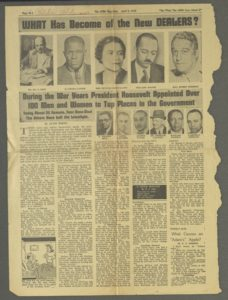 WHAT Has Become of the New DEALERS?,The AFRO Magazine,1947 April 5,Johnson Publishing Company Clippings File Collection
