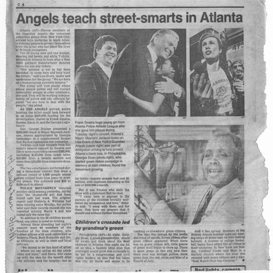 """Angels teach street-smarts in Atlanta"" circa 1981 Johnson Publishing Company clipping files collection"