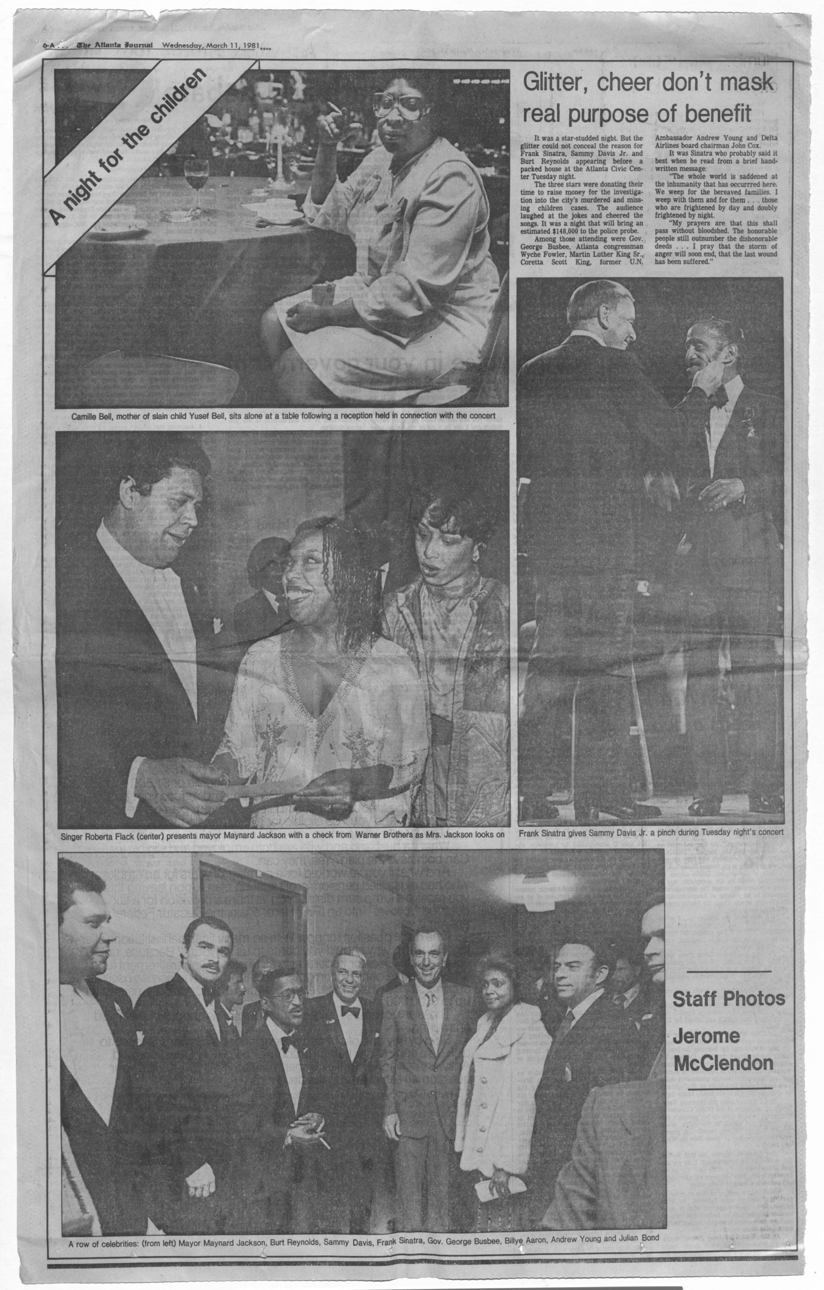 """A Night for the Children"" 1981 March 11 Johnson Publishing Company clipping files collection"