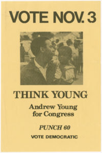 Andrew Young campaign flyer, circa 1970sJohn H. Calhoun
