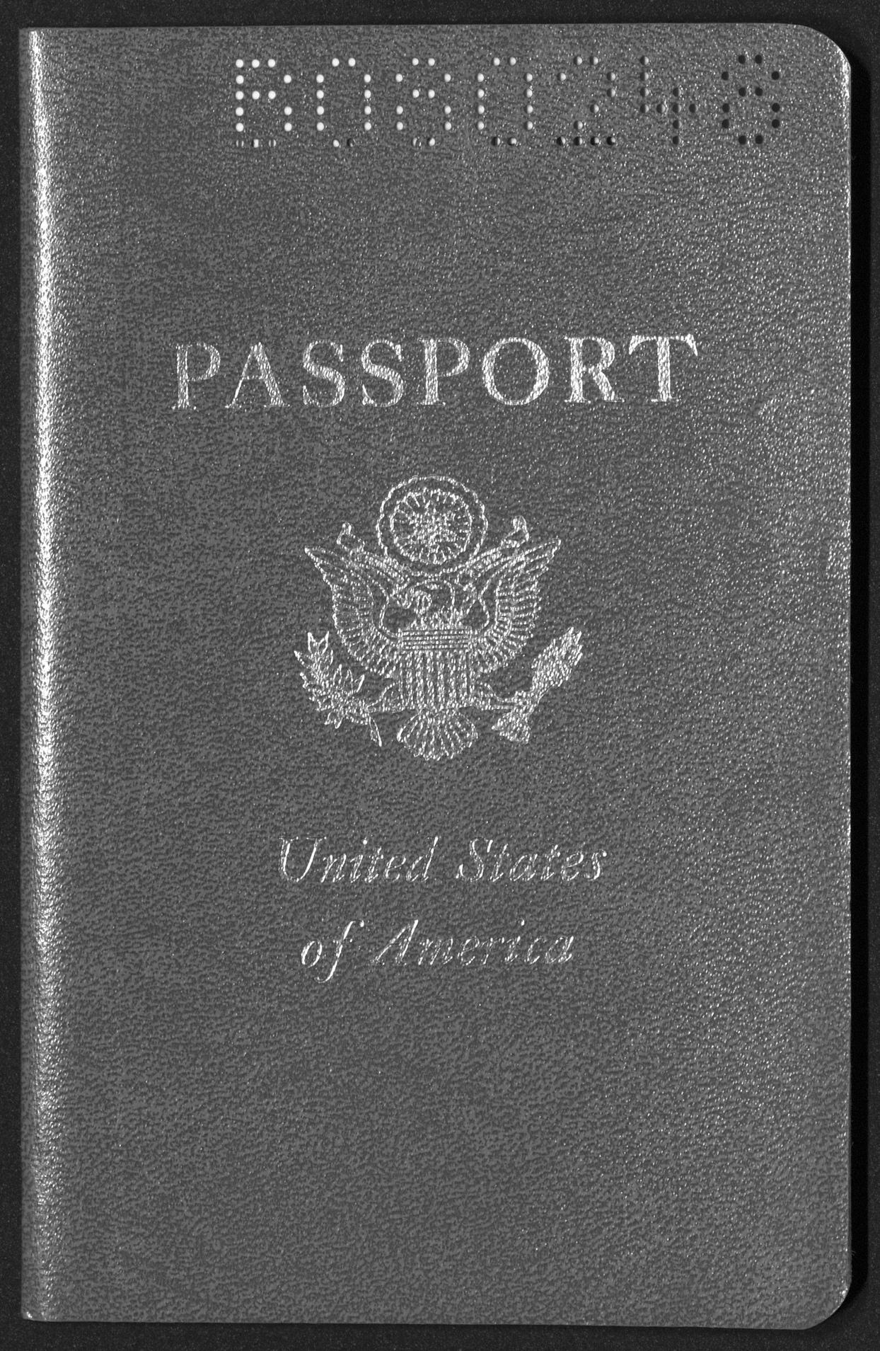 Passport, May 22, 1961 King, Willis J.1961 May 22 O9 Willis J. King papers