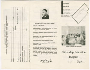 Citizen Education Program brochure,Southern Christian Leadership Conference,circa 1960,John H. Wheeler collection