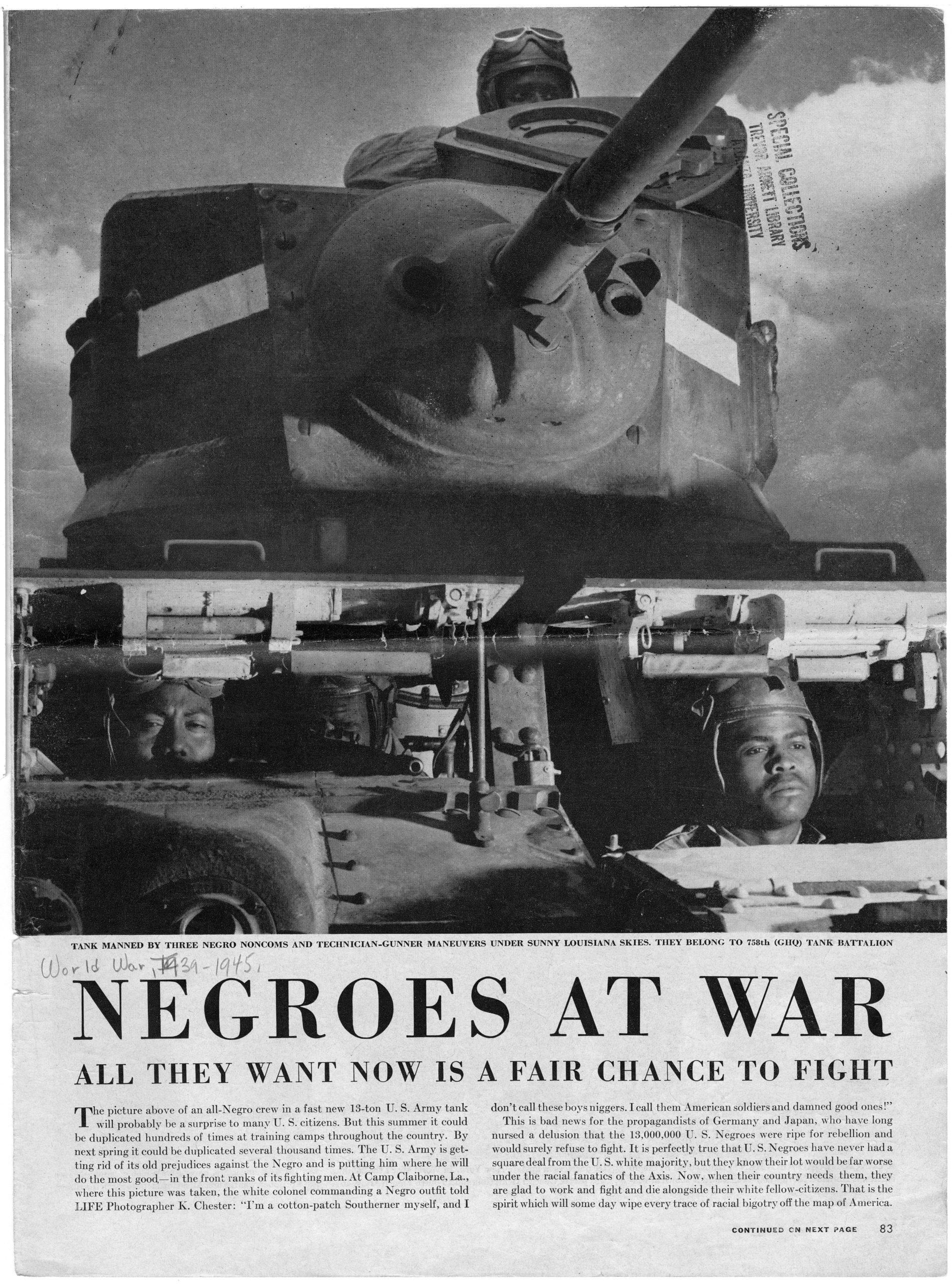 """Negroes at War"""""""