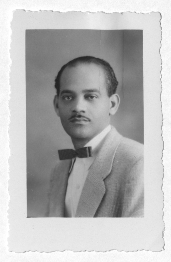 Photograph of Gerard Brun enclosed with correspondence, June 26, 1954, Rufus E. Clement records